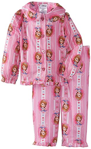 Sofia the First Little Girls' Hearts Button Front 2 Piece Pajama Set K157535PN 2T (Sofia The First Clothes compare prices)