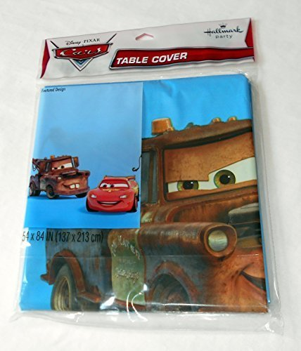 Hallmark - Disney Cars - Lighting McQueen and Mater - Plastic Tablecover - Standard