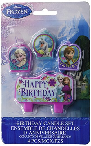 Frozen Small Candle Set 4piece
