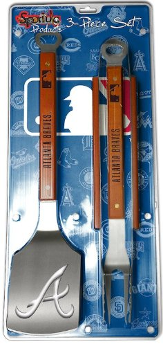 Sportula 3-Piece BBQ Set - Atlanta Braves