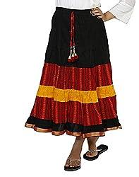 Sringar Women's Skirt (As2040_Black_30)