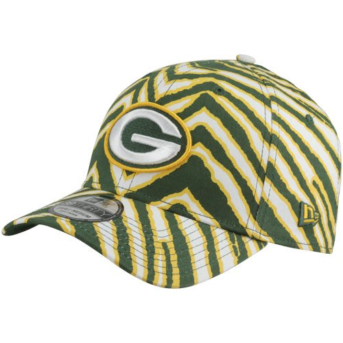 Mens New Era Green Bay Packers Zubaz HC 39THIRTY? Structured Flex Hat by New Era