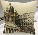 STUNNING COTTON ROME ITALY VATICAN CITY ST PETERS COLOSSEUM CUSHION COVER 18