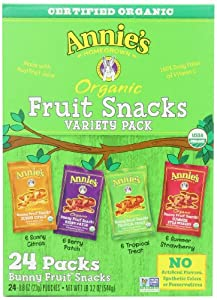 Annie's Homegrown Organic Vegan Fruit Snacks Variety Pack 24 (0.8oz)Pouches