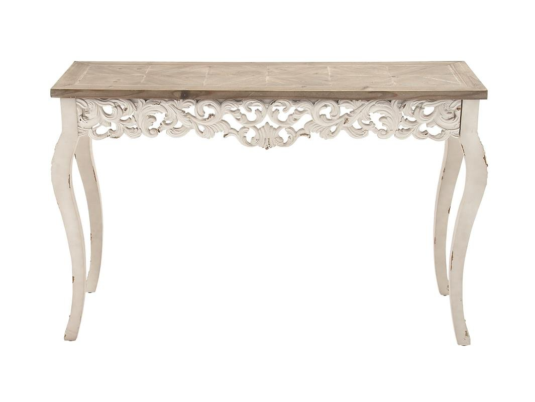 Deco 79 56564 Wood Carved Console Table, 46