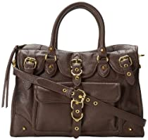 Jessica Simpson Colette Satchel Top Handle Bag,Espresso,One Size