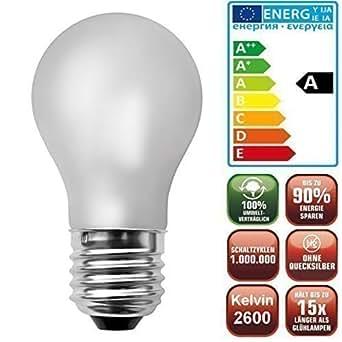 Die schicke + helle ENERGIESPARLAMPE LED Glühlampe matt (4,1Watt, 80 LED's, E27, dimmbar+warmweiß)