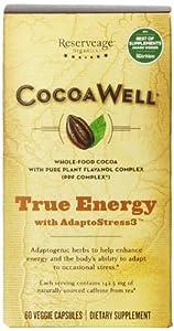 Reserveage Organics Cocoawell True Energy, 60 Vegetarian Capsules