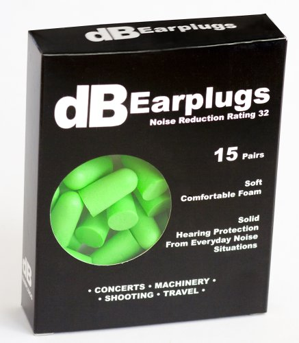 Db Ear Plugs, 15-Pair Foam,Hearing Protection For Sleeping,Shooting,Concerts,Clubs,Noise Cancelling,Noise Reduction