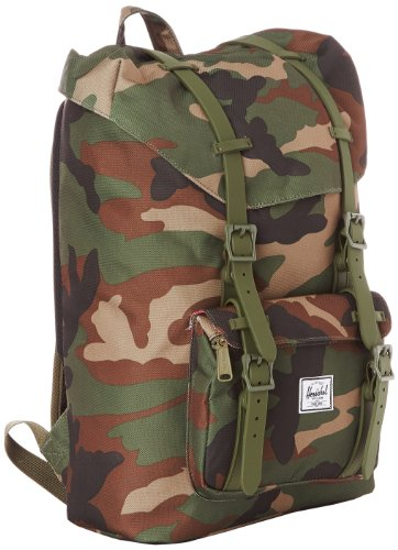 The Features Herschel Supply Co Little America Mid Volume Rubber Back Packs  Woodland Camo Army One Size - 216220bf9baa7
