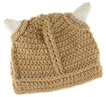 Baby Beanie: Hand Knit Viking Hat, Baby Boy 3-12 Months (39cm)