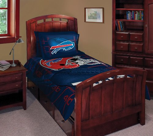 Buffalo Bills Twin/Full Comforter with Two Pillow Shams