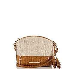 Mini Duxbury Crossbody<br>Whiskey Raffia