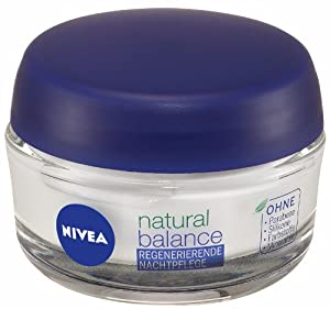 Nivea Pure & Natural Regenerating Night Cream 50ml For All Skin Types