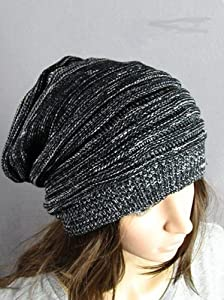 ZPS 1PCS Fashion Warmer Knitting Ski Slouch Hip-hop Beret Beanie Baggy Crochet Cap (Black)