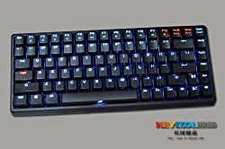 Keycool 84 Keys Portable Mechanical Gaming Keyboard Cherry Mx Switches (BLUE/RED/GREEN/YELLOW/WHITE LED Backlight Available) (BROWN switches + Black body + Blue LED backlight)