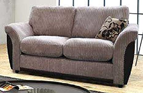 Beige/Braun 2-Sitzer-Sofa