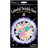 University Games Colorful Twinkle Stars, 40-Pack
