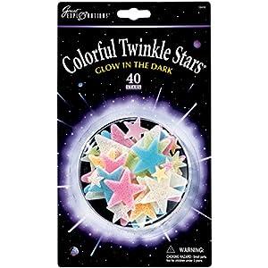 Glow-in-the-Dark Colorful Twinkle Stars