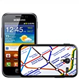 Close Up Tube Map Leicester Square, London Hard Case Clip On Back Cover For Samsung Galaxy ACE 2 i8160