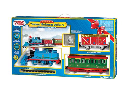 "Bachmann Industries Thomas' Christmas Delivery Ready To Run Electric Train Set, Large ""G"" Scale"