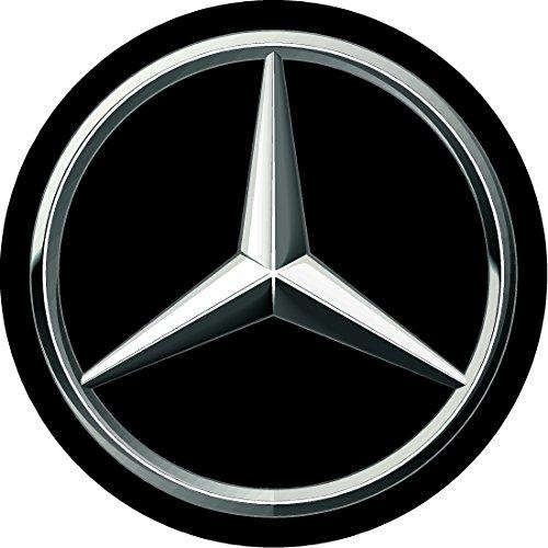 Mercedes-benz Black Replacement Decal Sticker 6 Piece Set (75mm)