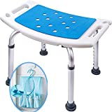 Medokare Shower Stool with Padded Seat - Shower Seat for Seniors with Tote Bag, Shower Bench Bath Chair, Handicap Shower Seats for Adults, Shower Stools and Benches
