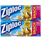 Ziploc Snack Bag, 50 ct-2 pk