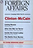 img - for Foreign Affairs; November/December 2007; Campaign 2008 Part III book / textbook / text book
