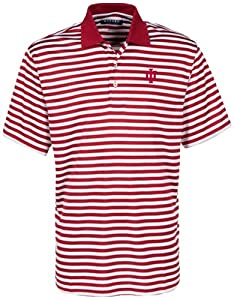 Oxford NCAA Indiana Hoosiers Mens Bar Stripe Golf Polo by Oxford