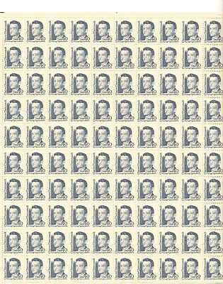 Claire Chennault Sheet of 100 x 40 Cent US Postage Stamps NEW Scot 2187