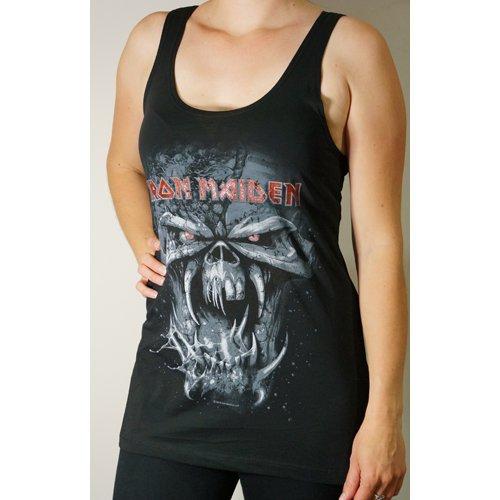 Iron Maiden-Final Frontier Eddie invecchiato Glitter Donna Gilet Top nero small