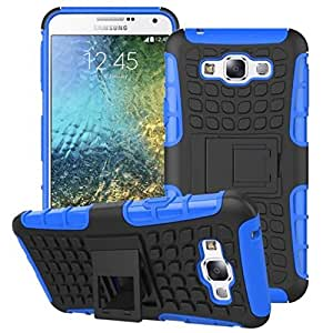 Kapa Dual Layer Shock proof Defender Stand Back Case Cover For Samsung Galaxy E7 - Blue