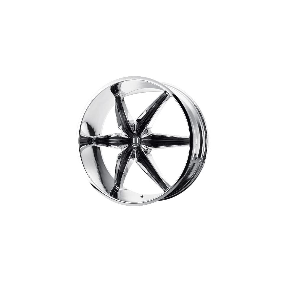 Helo HE866 24x9.5 Chrome Wheel / Rim 6x132 & 6x5.5 with a 35mm Offset and a 78.30 Hub Bore. Partnumber HE86624971235 Automotive
