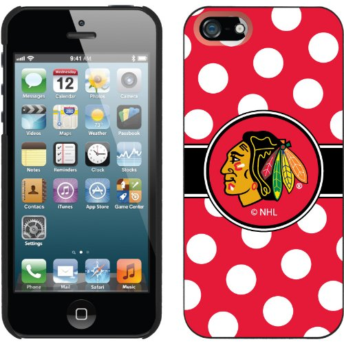 Best Price Chicago Blackhawks« - Polka Dots design on a Black iPhone 5s / 5 Thinshield Snap-On Case by Coveroo