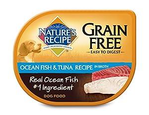 Nature's Recipe Grain Free Ocean Fish & Tuna Recipe in Broth Wet Dog Food (24 Pack), 2.75 oz