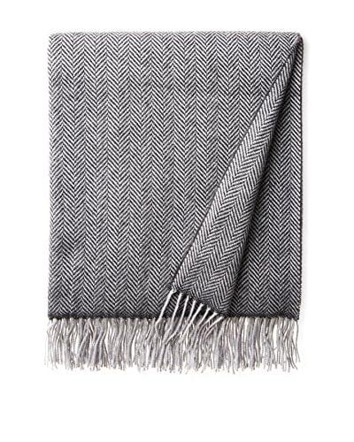 Amicale Herringbone Wool & Cashmere Throw, Grey