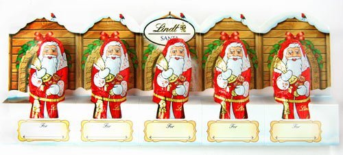 Lindt Milk Chocolate Santa 50g (5 Santa)