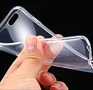 TheGiftKart Ultra Thin Soft Series Flexible Silicone Totu Transparent TPU Clear Case Cover for LG F70 D315