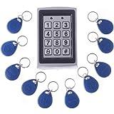 Docooler® RFID Entry Metal Door Lock Access Control System + 10 Key Fobs (Style 2)