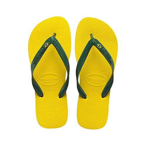 Havaianas Brasil Infradito, Unisex-Adulto, Giallo (Citrus Yellow), 47/48 EU (45/46 BR)