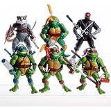 "6PCS Lot 5"" Teenage Mutant Ninja Turtles Anime Movie Action Figures Toy Set (Without original box)"