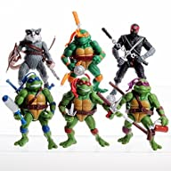 6PCS Lot 5″ Teenage Mutant Ninja Turt…