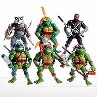 6PCS Lot 5″ Teenage Mutant Ninja Turt…