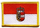 Austria Salzburg Flag embroidered Iron-On Patch