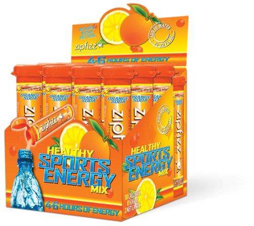 Zipfizz Healthy Energy Drink Mix, Orange, 0.39-Ounce, 12-Count