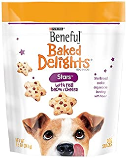Beneful Baked Delights Dog Snacks, Stars, 8.5-Ounce Pouch, Pack of 5