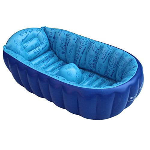 infant bath tubs portable inflatable bath tub wash pot large padded baby tub dealtrend. Black Bedroom Furniture Sets. Home Design Ideas