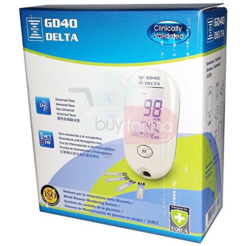 GD40 Delta Glucometro - Test ematocrito e di emoglobina