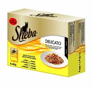Sheba 8er Multipack Delicato Gelee Variation, 6er Pack (6 x 85 g)
